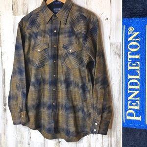 Pendleton Canyon 100% Virgin Plaid Wool Shirt